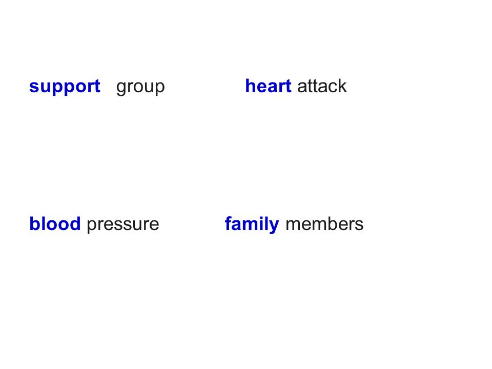 support group heart attack