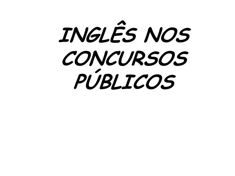 INGLÊS NOS CONCURSOS PÚBLICOS