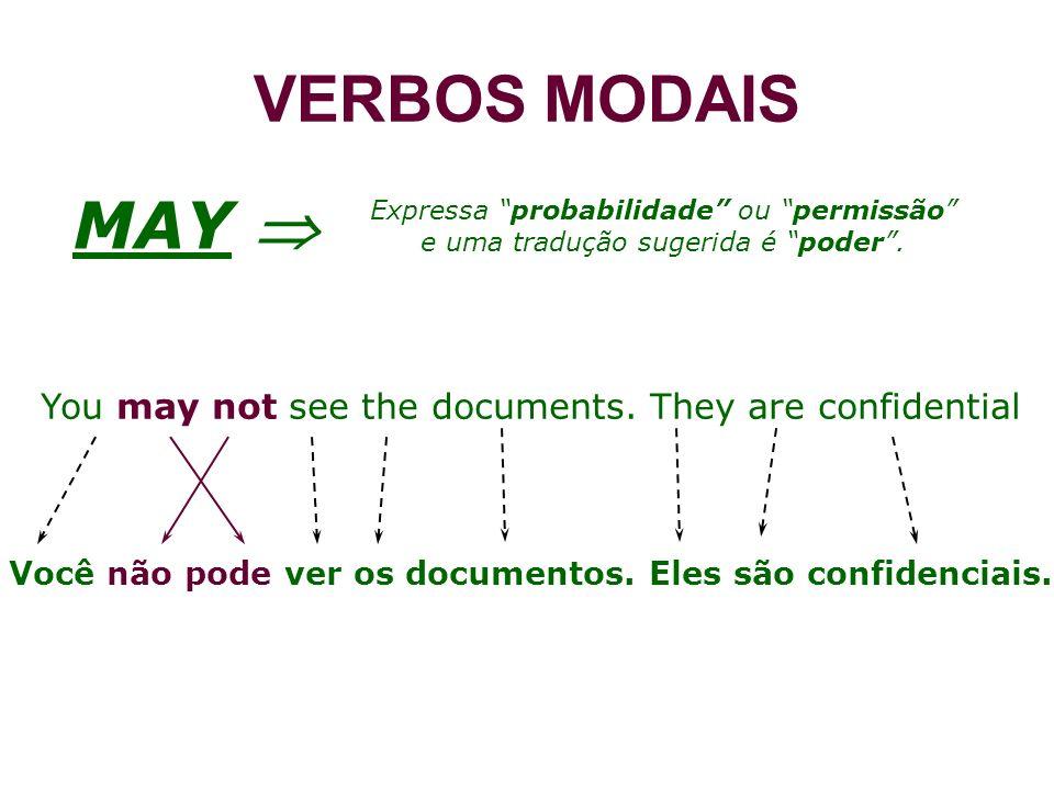 Você não pode ver os documentos. Eles são confidenciais.