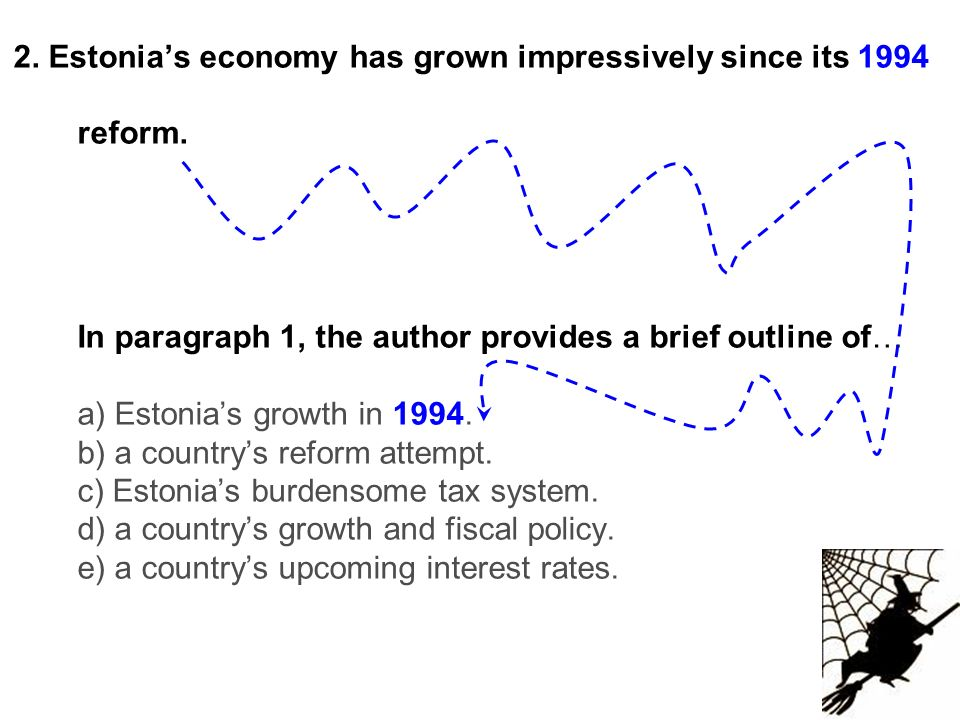 2. Estonia's economy has grown impressively since its 1994 reform.