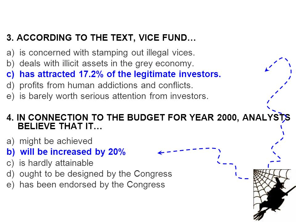 3. ACCORDING TO THE TEXT, VICE FUND…