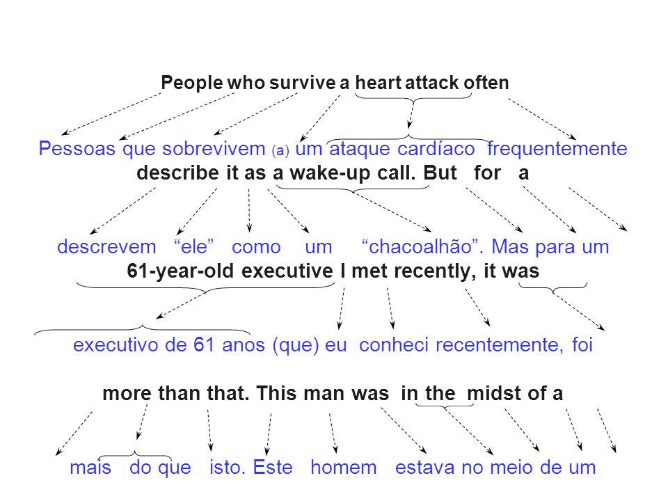 Pessoas que sobrevivem (a) um ataque cardíaco frequentemente