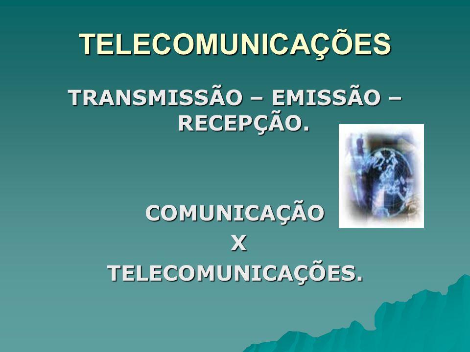 TRANSMISSÃO – EMISSÃO – RECEPÇÃO.