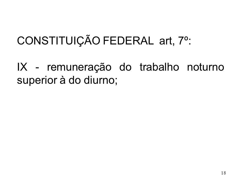 CONSTITUIÇÃO FEDERAL art, 7º: