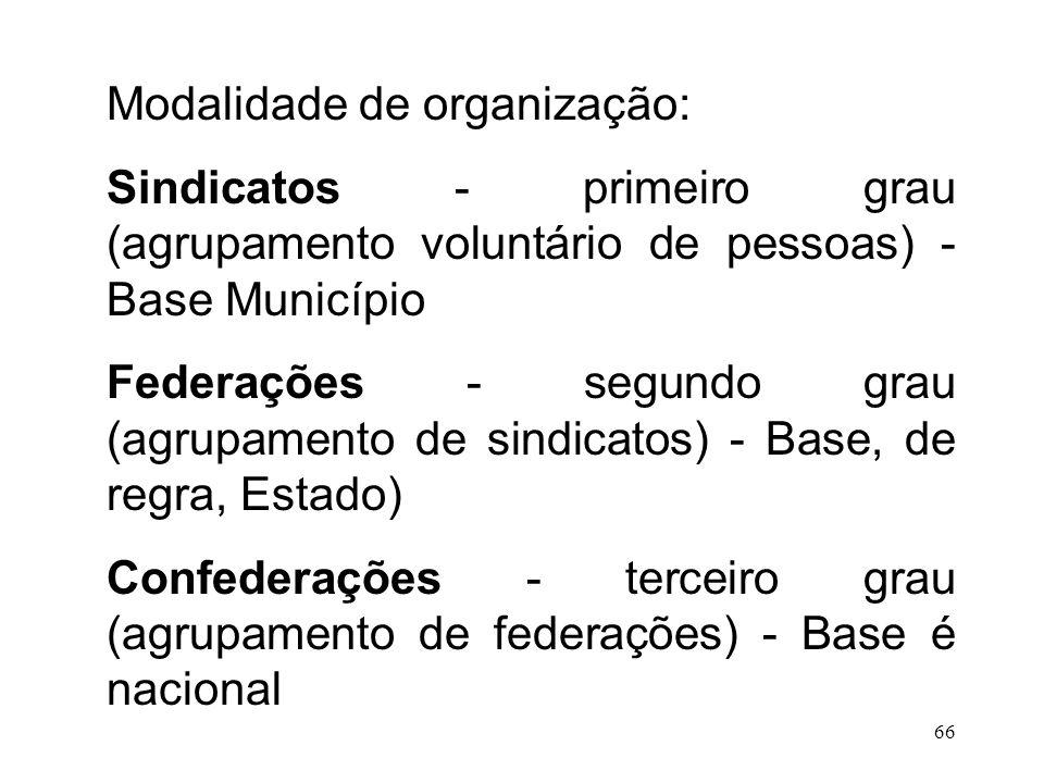 Modalidade de organização: