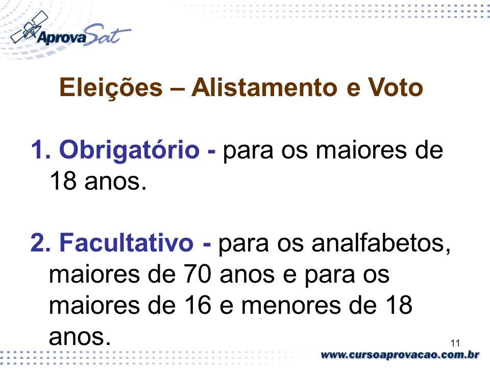 Eleições – Alistamento e Voto