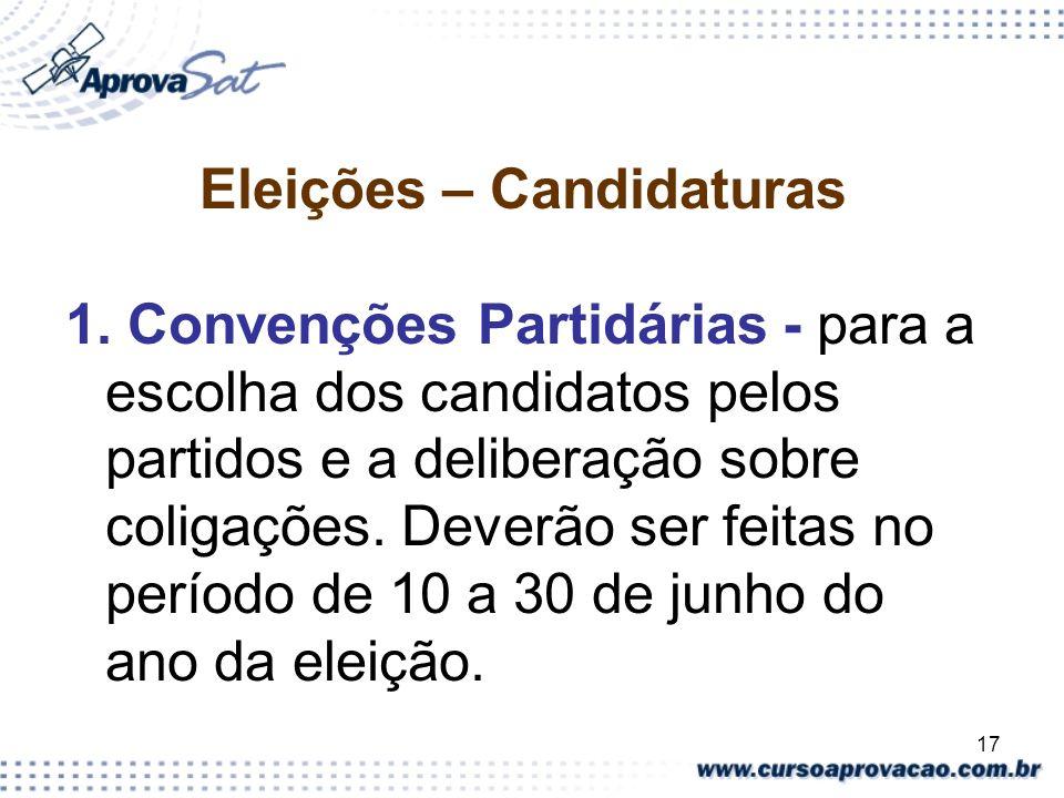 Eleições – Candidaturas