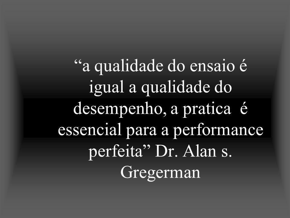a qualidade do ensaio é igual a qualidade do desempenho, a pratica é essencial para a performance perfeita Dr.