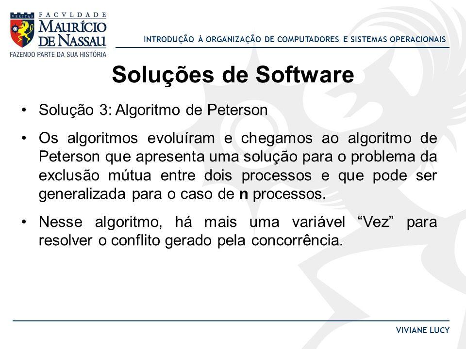 Soluções de Software Solução 3: Algoritmo de Peterson