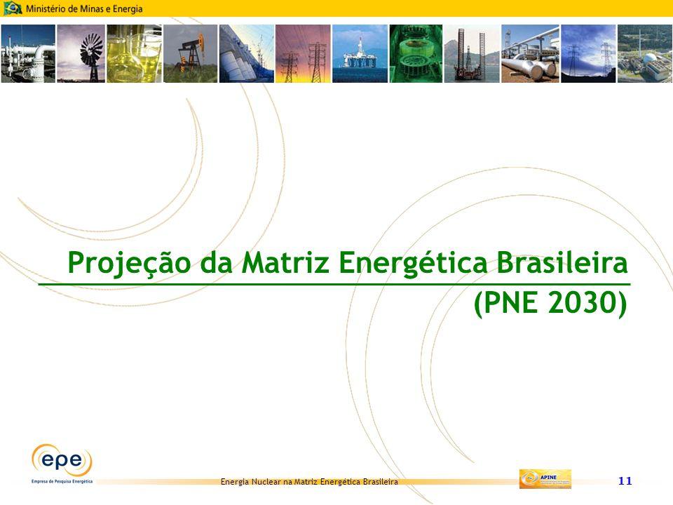 Projeção da Matriz Energética Brasileira (PNE 2030)