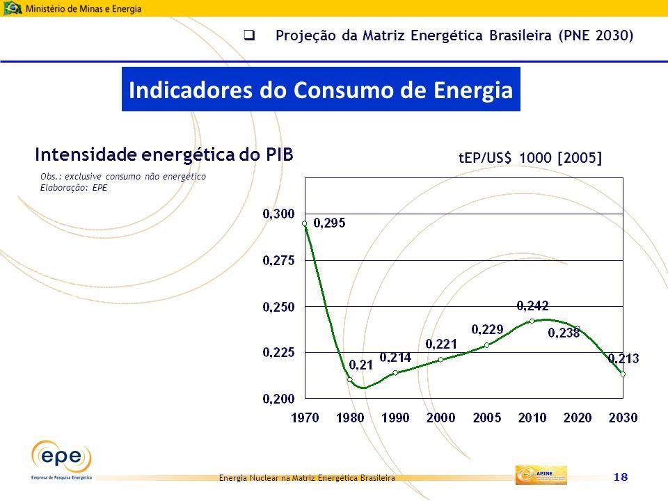 Indicadores do Consumo de Energia