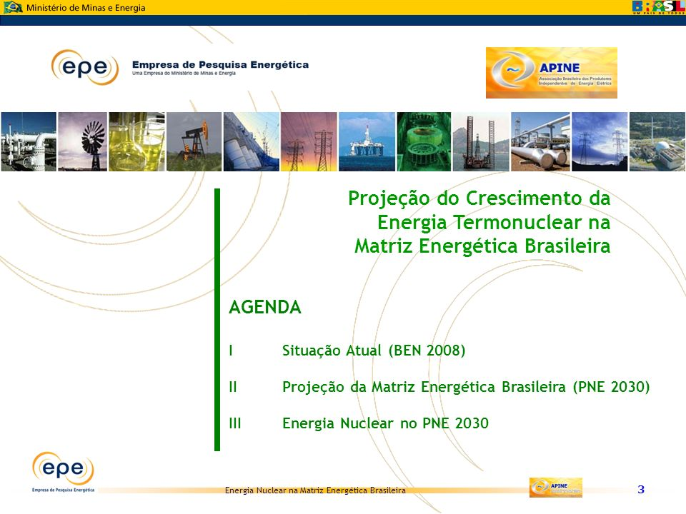 Projeção do Crescimento da Energia Termonuclear na Matriz Energética Brasileira