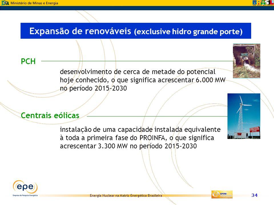 Expansão de renováveis (exclusive hidro grande porte)