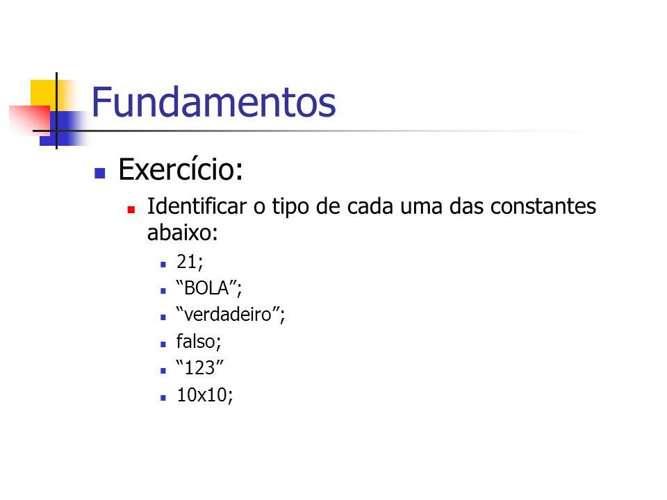 Fundamentos Exercício: