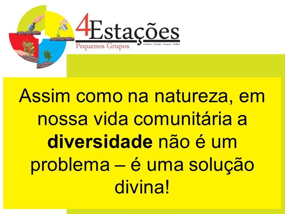 Assim como na natureza, em nossa vida comunitária a diversidade não é um problema – é uma solução divina!