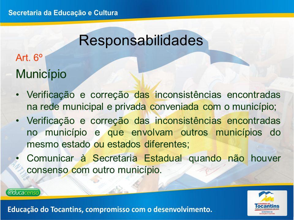 Responsabilidades Município Art. 6º