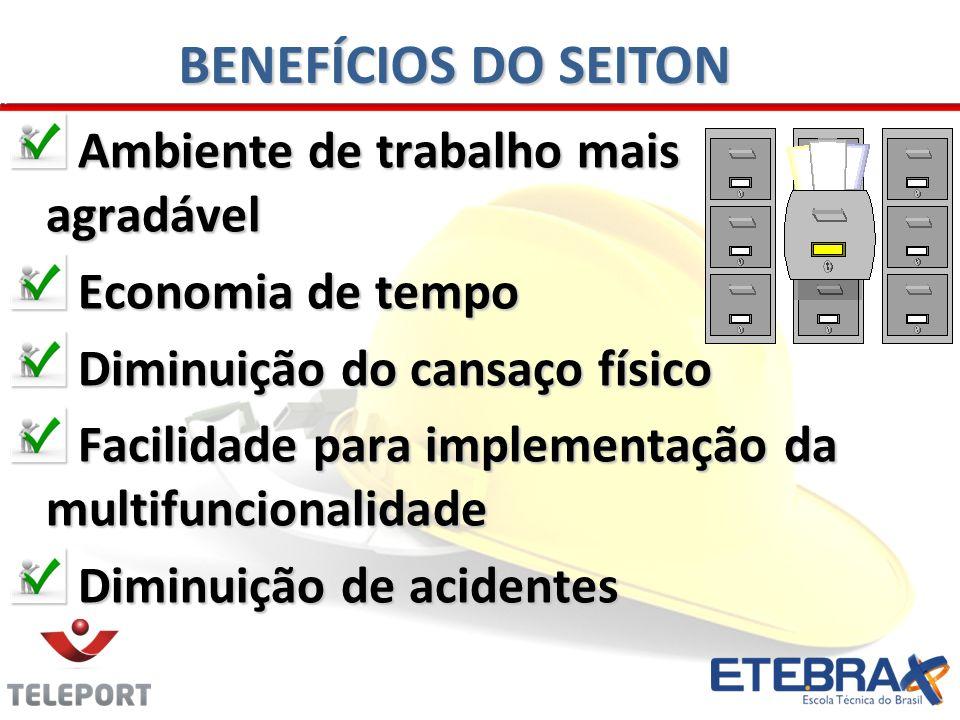 BENEFÍCIOS DO SEITON Ambiente de trabalho mais agradável