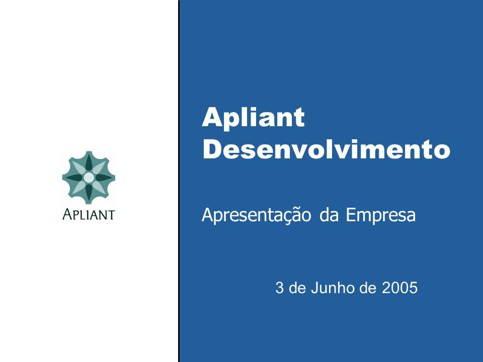 Apliant Desenvolvimento Apresentação da Empresa