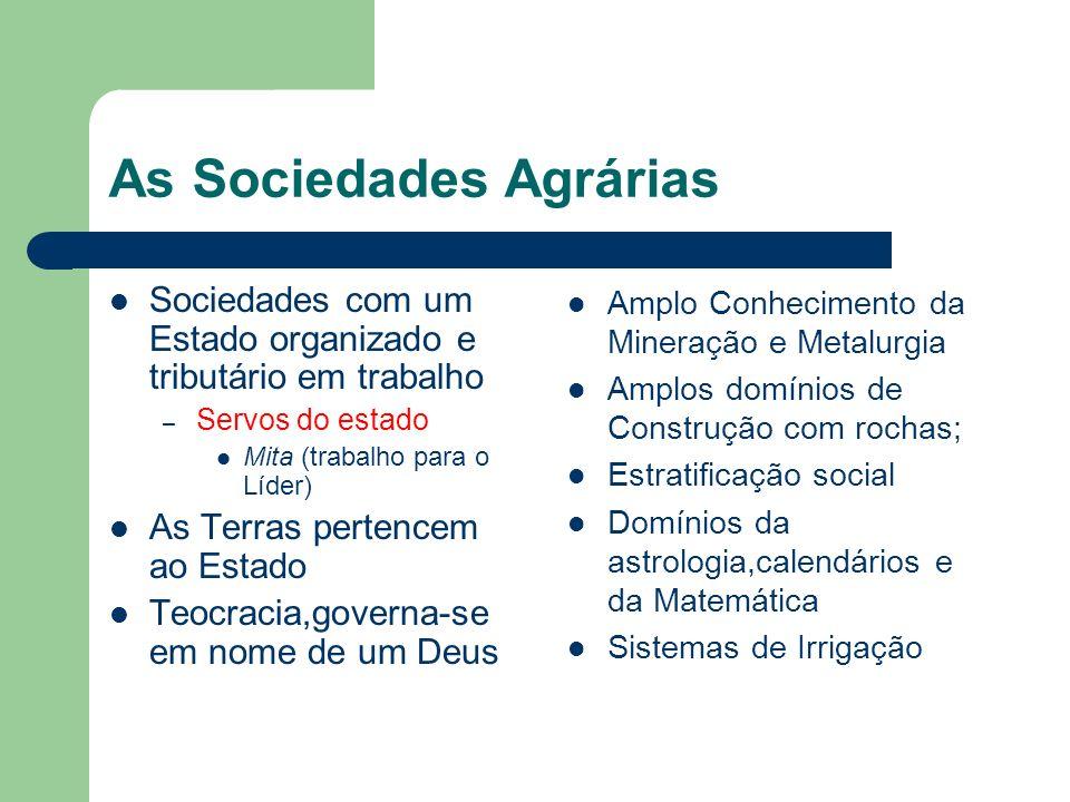 As Sociedades Agrárias