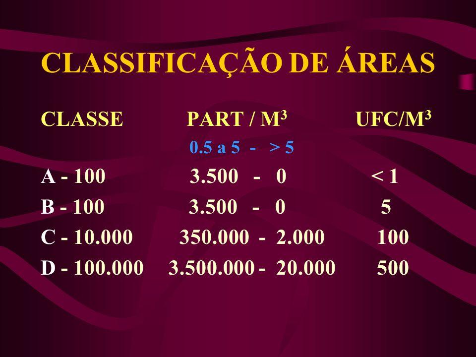 CLASSIFICAÇÃO DE ÁREAS