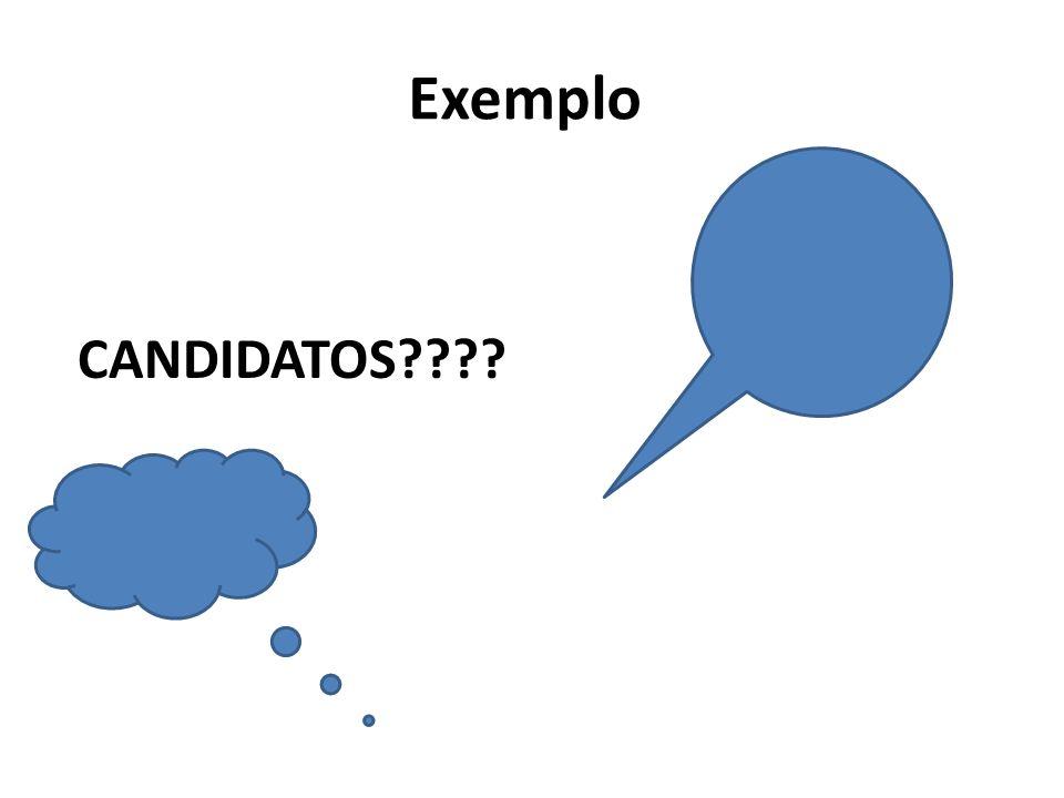 Exemplo CANDIDATOS