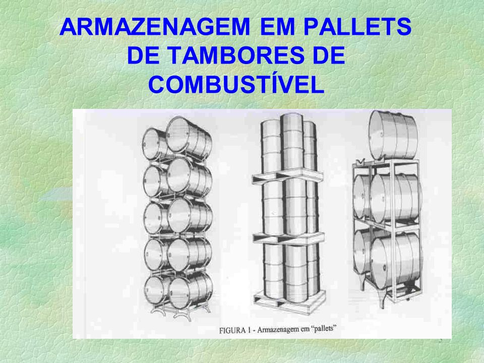 ARMAZENAGEM EM PALLETS DE TAMBORES DE COMBUSTÍVEL