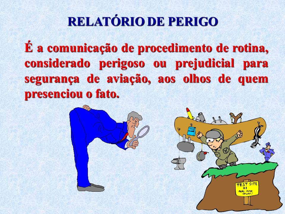 RELATÓRIO DE PERIGO