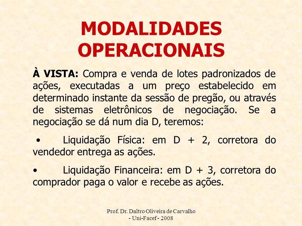 MODALIDADES OPERACIONAIS