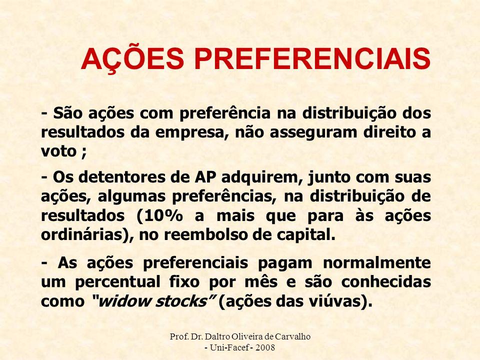 Prof. Dr. Daltro Oliveira de Carvalho - Uni-Facef - 2008