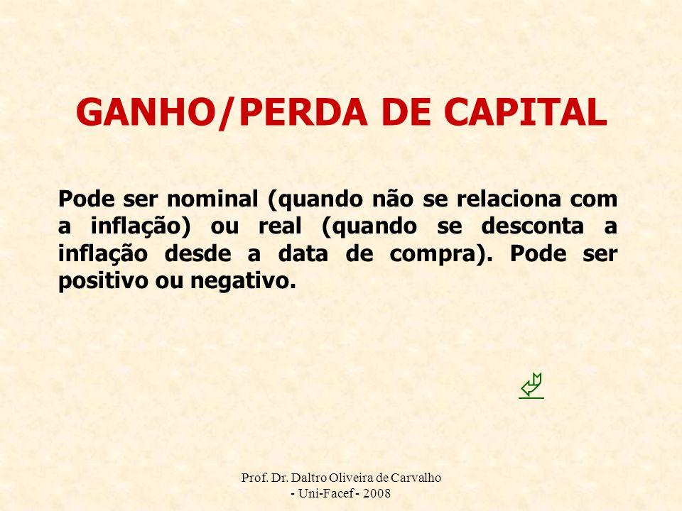 GANHO/PERDA DE CAPITAL