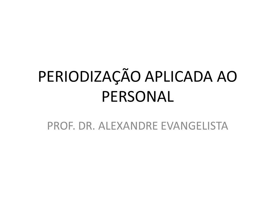 PERIODIZAÇÃO APLICADA AO PERSONAL