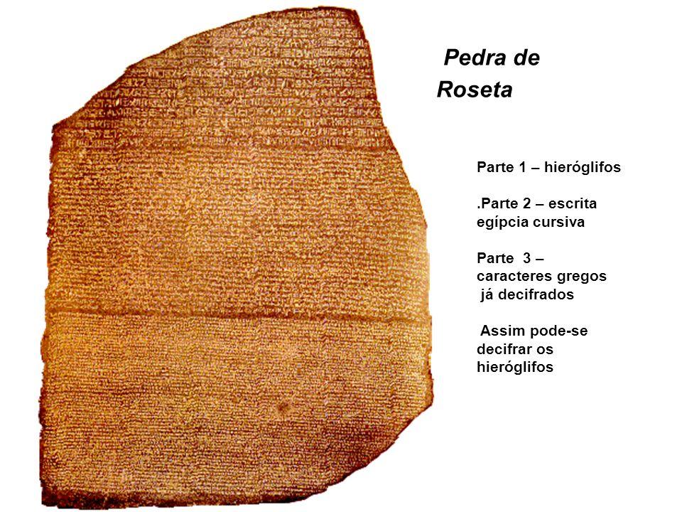 Pedra de Roseta Parte 1 – hieróglifos