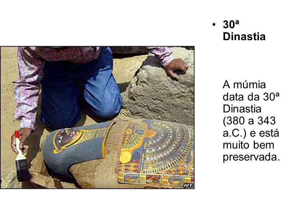 30ª Dinastia A múmia data da 30ª Dinastia (380 a 343 a. C