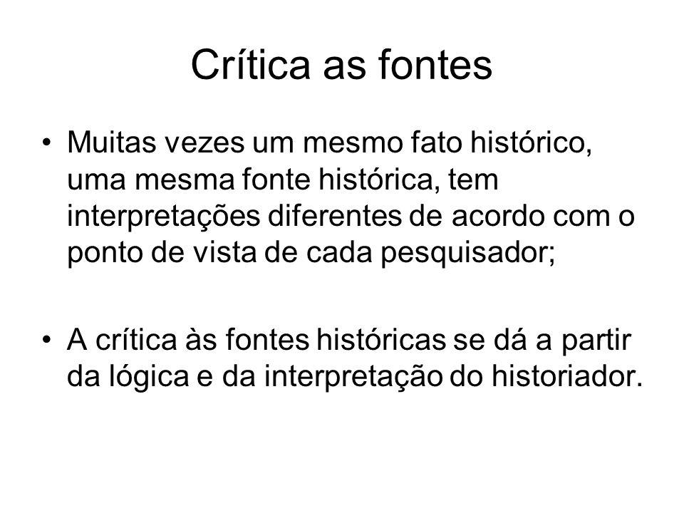 Crítica as fontes