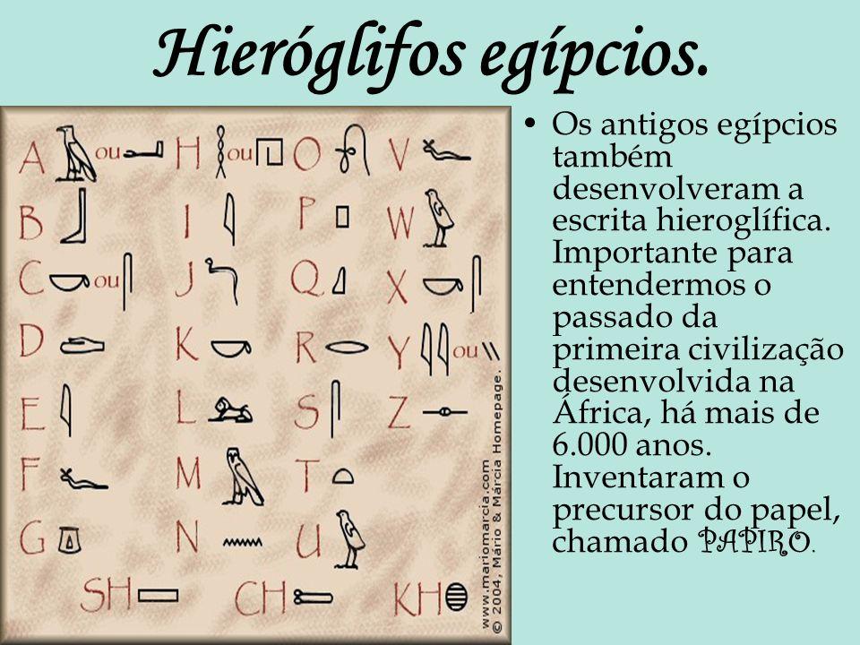 Hieróglifos egípcios.