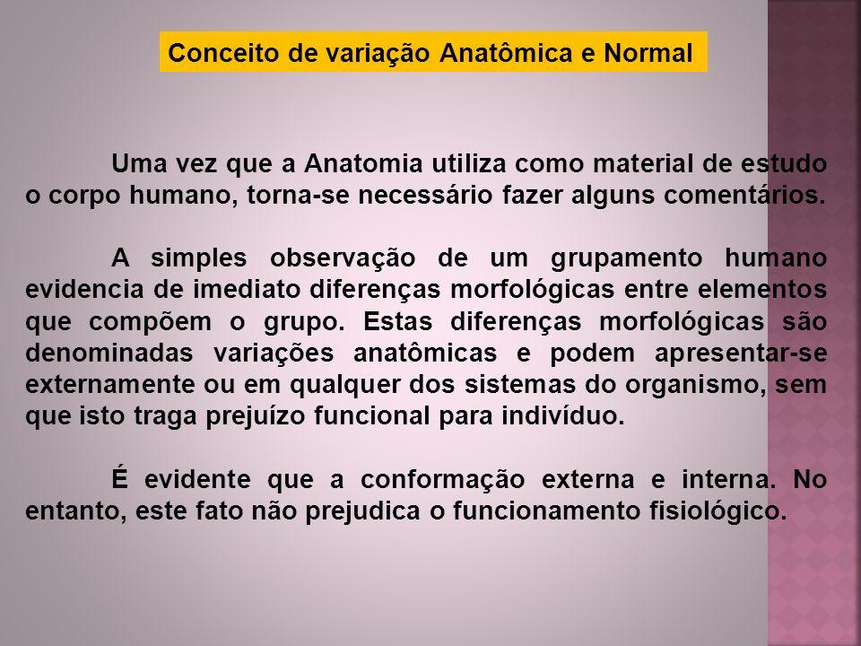 Conceito de variação Anatômica e Normal
