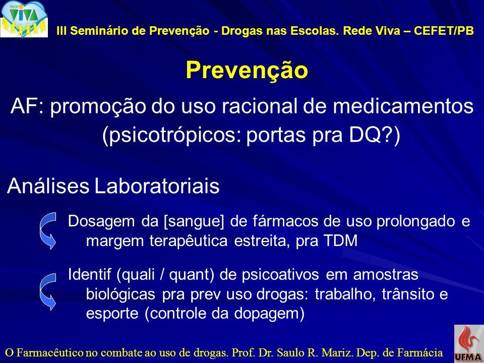III Seminário de Prevenção - Drogas nas Escolas. Rede Viva – CEFET/PB
