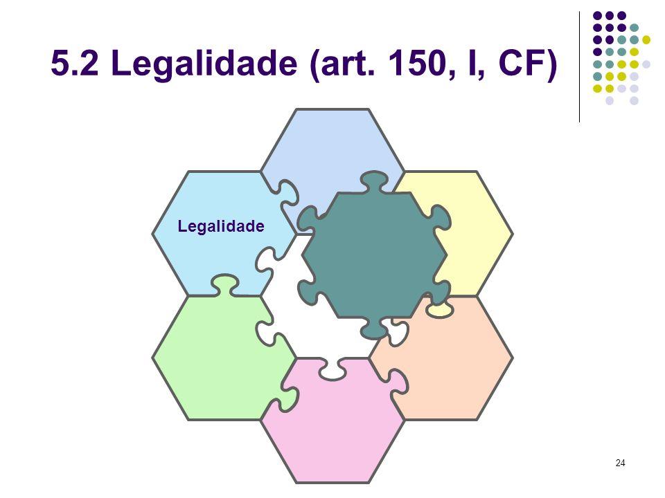 5.2 Legalidade (art. 150, I, CF) Legalidade