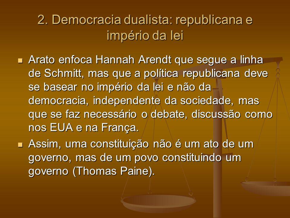2. Democracia dualista: republicana e império da lei