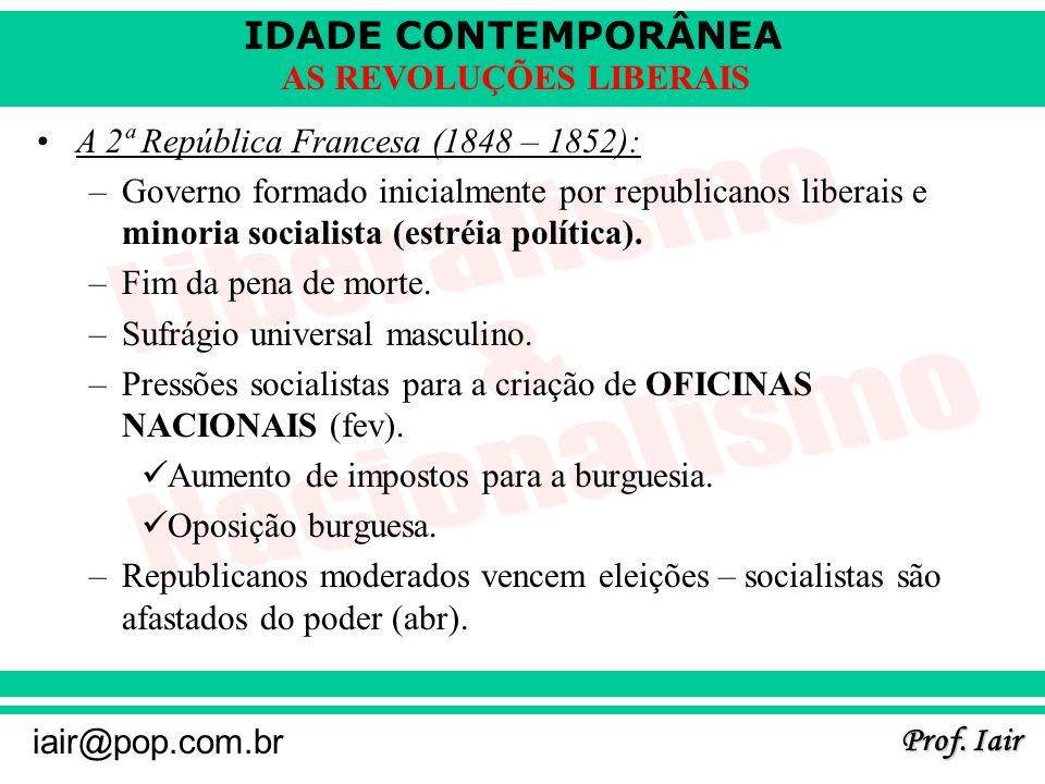 A 2ª República Francesa (1848 – 1852):