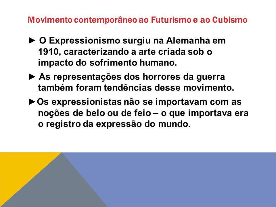 Movimento contemporâneo ao Futurismo e ao Cubismo
