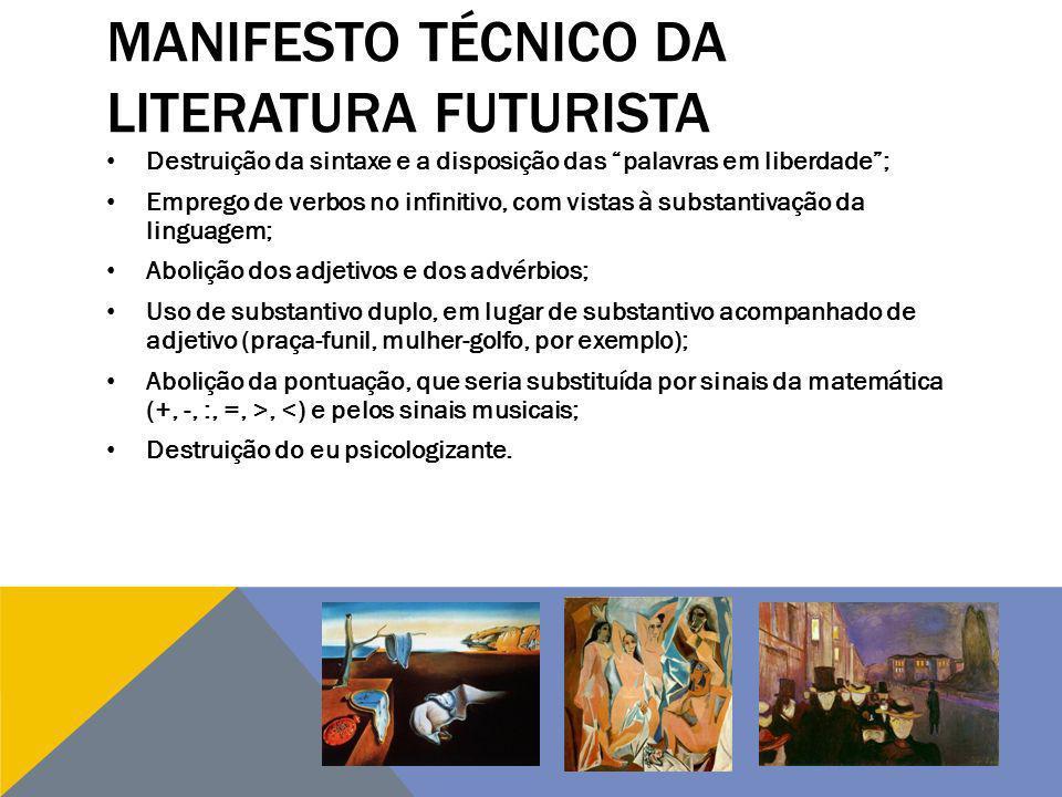 MANIFESTO TÉCNICO DA LITERATURA FUTURISTA