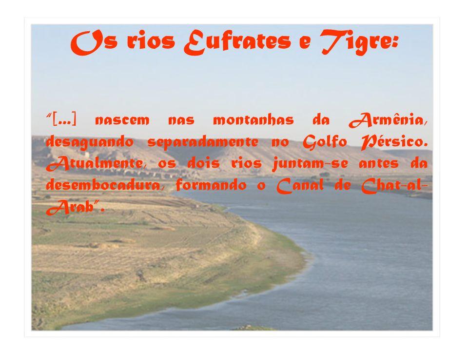Os rios Eufrates e Tigre: