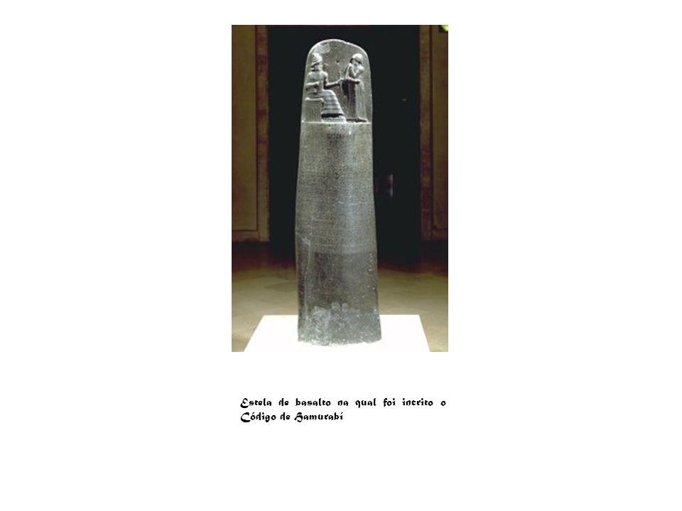 Estela de basalto na qual foi incrito o Código de Hamurabí