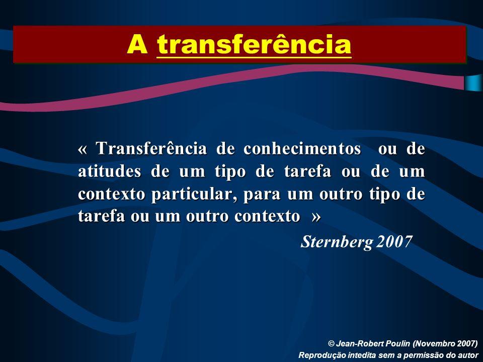 A transferência