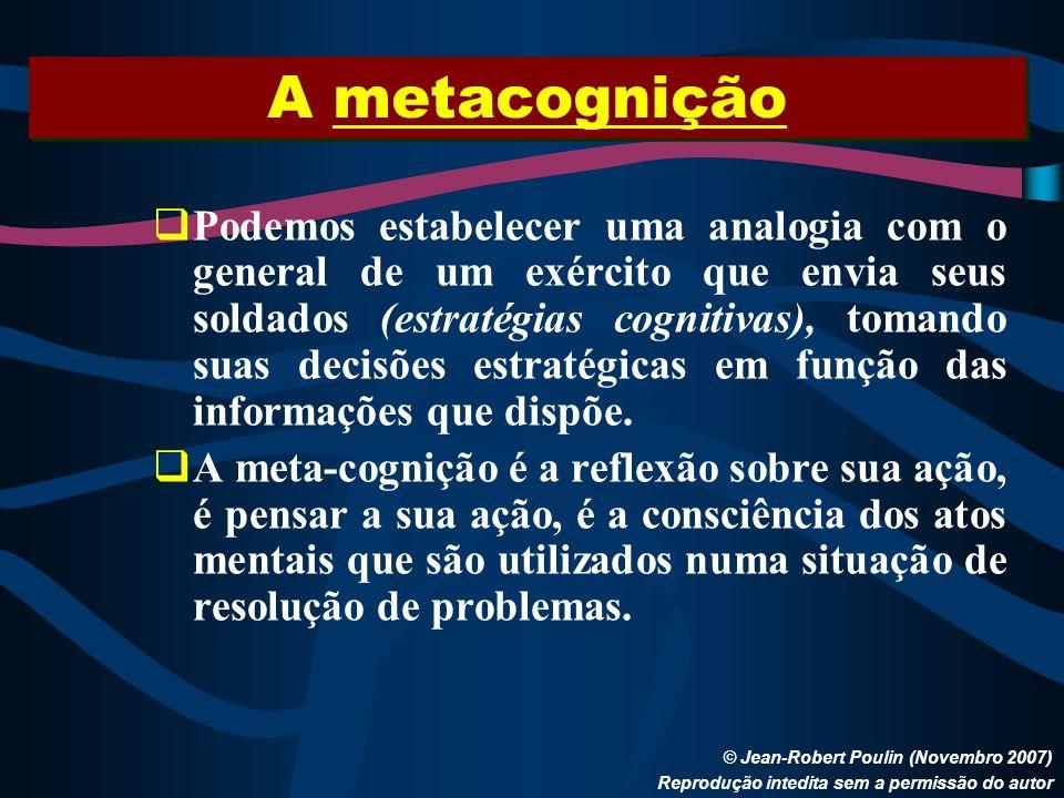 A metacognição