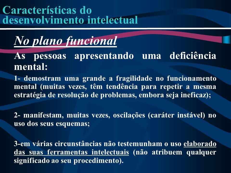 Características do desenvolvimento intelectual