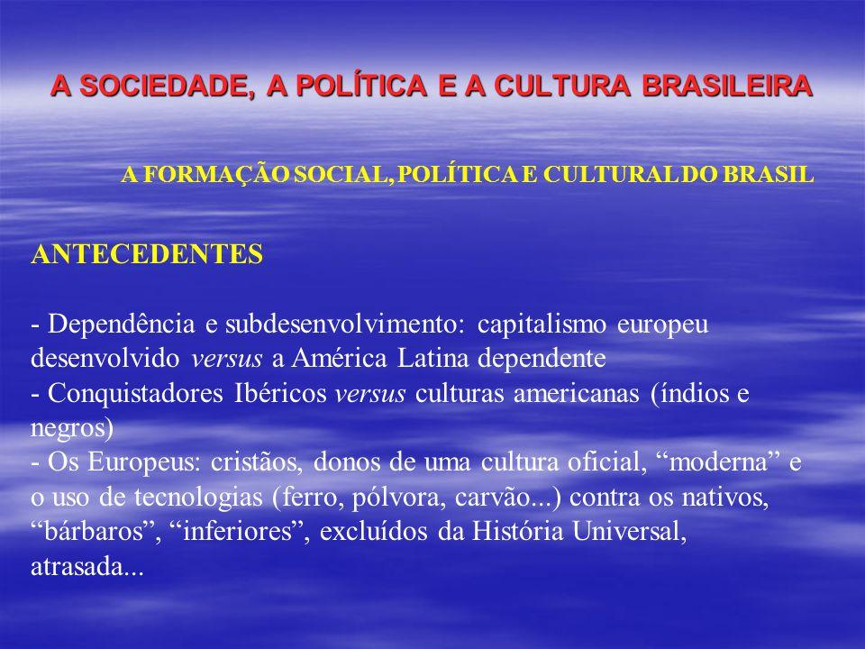 A SOCIEDADE, A POLÍTICA E A CULTURA BRASILEIRA