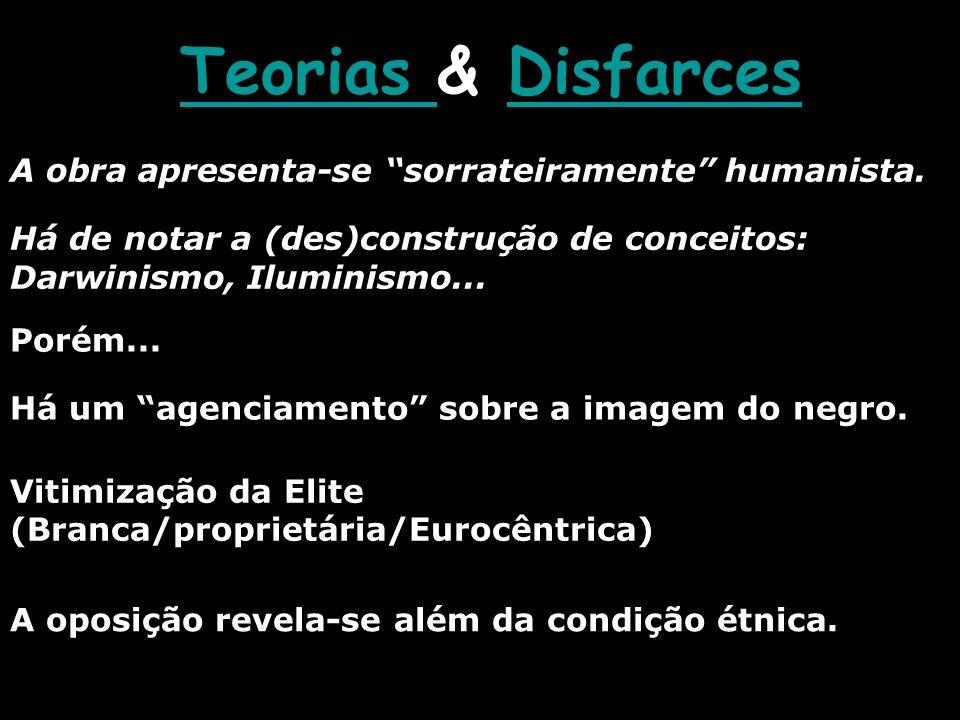 Teorias & Disfarces A obra apresenta-se sorrateiramente humanista.