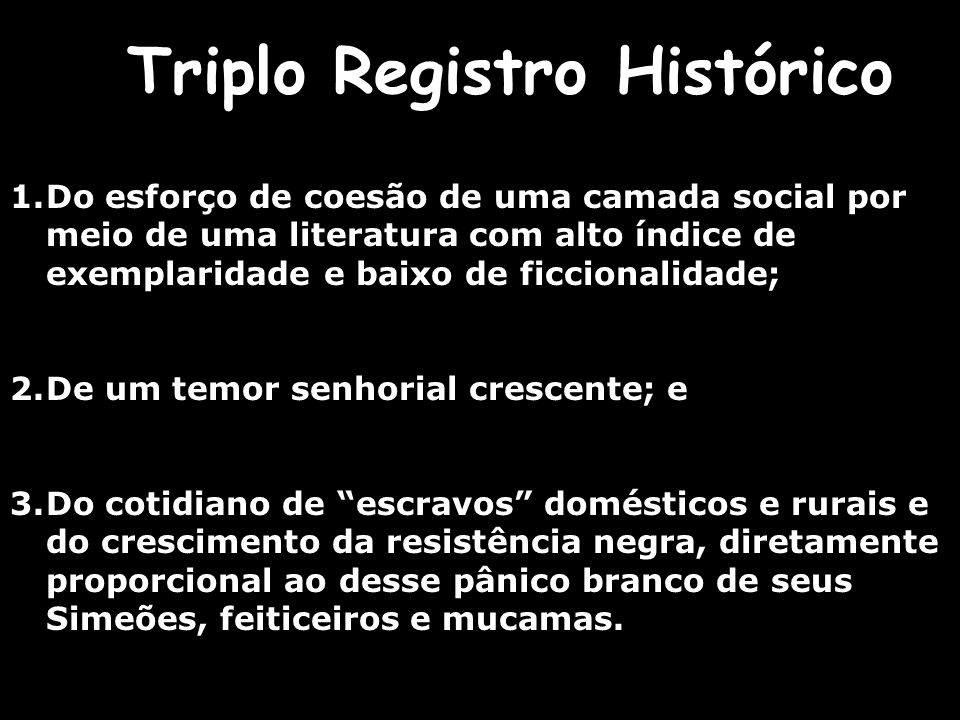 Triplo Registro Histórico